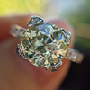 2.08ct Vintage Old European Cut Diamond Illusion Ring 7