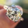 2.08ct Vintage Old European Cut Diamond Illusion Ring 17
