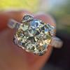 2.08ct Vintage Old European Cut Diamond Illusion Ring 5