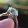 2.08ct Vintage Old European Cut Diamond Illusion Ring 14