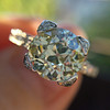 2.08ct Vintage Old European Cut Diamond Illusion Ring 9