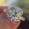 2.08ct Vintage Old European Cut Diamond Illusion Ring 12