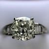 2.13ct Antique Cushion Cut Diamond Ring GIA K SI1 13