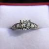2.13ct Antique Cushion Cut Diamond Ring GIA K SI1 19