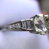 2.13ct Antique Cushion Cut Diamond Ring GIA K SI1 20