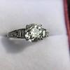 2.13ct Antique Cushion Cut Diamond Ring GIA K SI1 11
