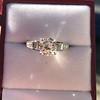 2.13ct Antique Cushion Cut Diamond Ring GIA K SI1 8