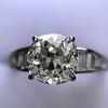 2.13ct Antique Cushion Cut Diamond Ring GIA K SI1 15