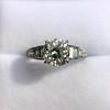 2.13ct Antique Cushion Cut Diamond Ring GIA K SI1 9