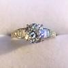 2.13ct Antique Cushion Cut Diamond Ring GIA K SI1 6