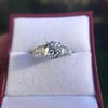 2.13ct Antique Cushion Cut Diamond Ring GIA K SI1 30