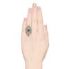 2.15ctw Vintage Emerald and Diamond Jabot Conversion Ring 2
