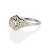 2.20ct Old European Cut Diamond Art Deco Solitaire   3