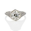 2.20ct Old European Cut Diamond Art Deco Solitaire   0