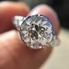 2.23ct Old European Cut Diamond Edwardian Solitaire GIA I VS1 12
