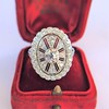 2.23ctw Old European Cut Diamond Filigree Ring 2
