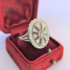 2.23ctw Old European Cut Diamond Filigree Ring 1