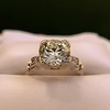 2.25ct Art Deco Transitional Cut Diamond Ring GIA J VS1 20
