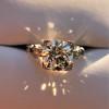2.25ct Art Deco Transitional Cut Diamond Ring GIA J VS1 21