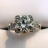 2.25ct Art Deco Transitional Cut Diamond Ring GIA J VS1 14
