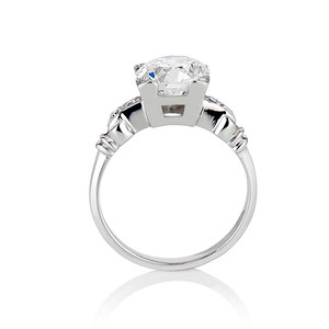 2.25ct Art Deco Transitional Cut Diamond Ring GIA J VS1