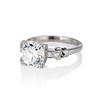 2.25ct Art Deco Transitional Cut Diamond Ring GIA J VS1 1