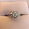 2.25ct Art Deco Transitional Cut Diamond Ring GIA J VS1 22