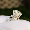 2.25ct Art Deco Transitional Cut Diamond Ring GIA J VS1 8