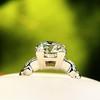 2.25ct Art Deco Transitional Cut Diamond Ring GIA J VS1 7