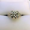 2.25ct Art Deco Transitional Cut Diamond Ring GIA J VS1 16