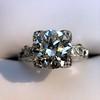 2.25ct Art Deco Transitional Cut Diamond Ring GIA J VS1 15