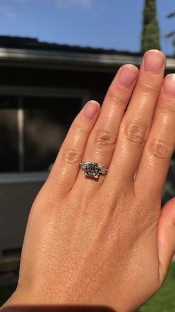 2.25ct Art Deco Transitional Cut Diamond Ring GIA J VS1