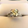 2.25ct Art Deco Transitional Cut Diamond Ring GIA J VS1 11