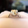 2.25ct Art Deco Transitional Cut Diamond Ring GIA J VS1 13