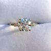 2.35ct Old European Cut Diamond Vintage Ring, GIA J VS2 1