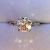 2.35ct Old European Cut Diamond Vintage Ring, GIA J VS2 0