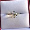 2.35ct Old European Cut Diamond Vintage Ring, GIA J VS2 3