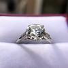 2.35ct Old European Cut Diamond Vintage Ring, GIA J VS2 10
