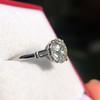 2.35ct Old European Cut Diamond Vintage Ring, GIA J VS2 14