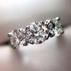 2.38ctw Art Deco Transitional Cut Diamond 3-Stone Ring 0