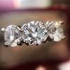2.38ctw Art Deco Transitional Cut Diamond 3-Stone Ring 16