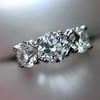 2.38ctw Art Deco Transitional Cut Diamond 3-Stone Ring 1
