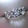 2.38ctw Art Deco Transitional Cut Diamond 3-Stone Ring 11