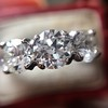 2.38ctw Art Deco Transitional Cut Diamond 3-Stone Ring 8