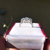 2.38ctw Art Deco Transitional Cut Diamond 3-Stone Ring 4