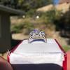 2.38ctw Art Deco Transitional Cut Diamond 3-Stone Ring 18