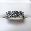2.38ctw Art Deco Transitional Cut Diamond 3-Stone Ring 25