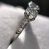 2.38ctw Art Deco Transitional Cut Diamond 3-Stone Ring 22
