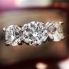 2.38ctw Art Deco Transitional Cut Diamond 3-Stone Ring 7