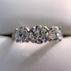 2.38ctw Art Deco Transitional Cut Diamond 3-Stone Ring 9